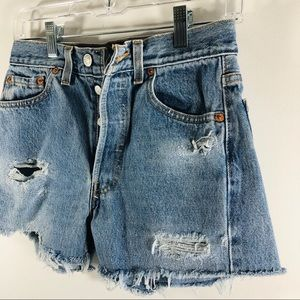Levi's Shorts - Levi's 501 button fly cutoff shorts distressed 4 6